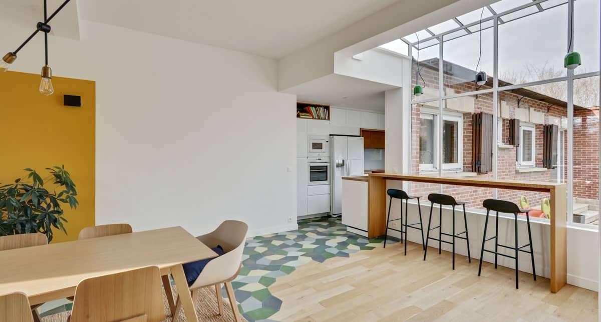 salle à manger rénovation chantilly architecte d'intérieur