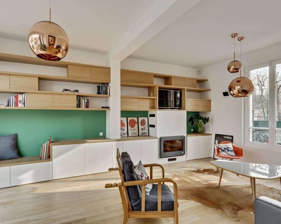 salon meuble sur mesure rénovation chantilly architecte d'intérieur